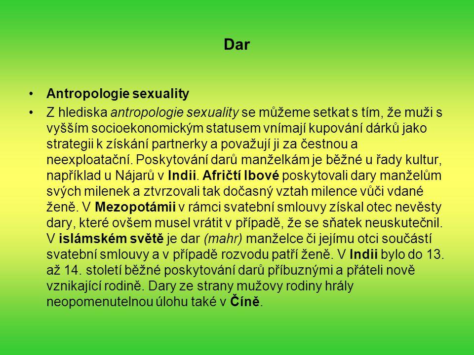 Dar Antropologie sexuality
