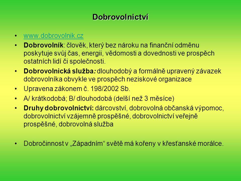 Dobrovolnictví www.dobrovolnik.cz