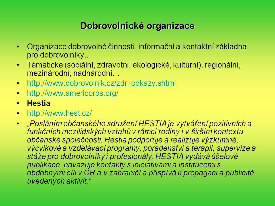 Dobrovolnické organizace