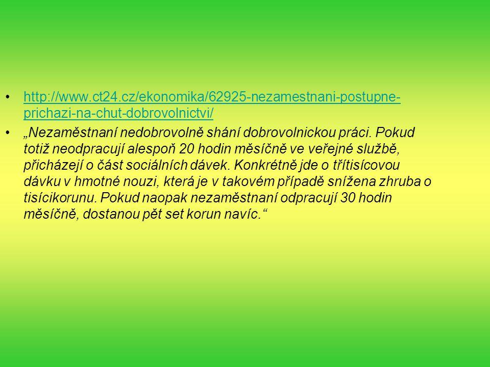 http://www.ct24.cz/ekonomika/62925-nezamestnani-postupne-prichazi-na-chut-dobrovolnictvi/