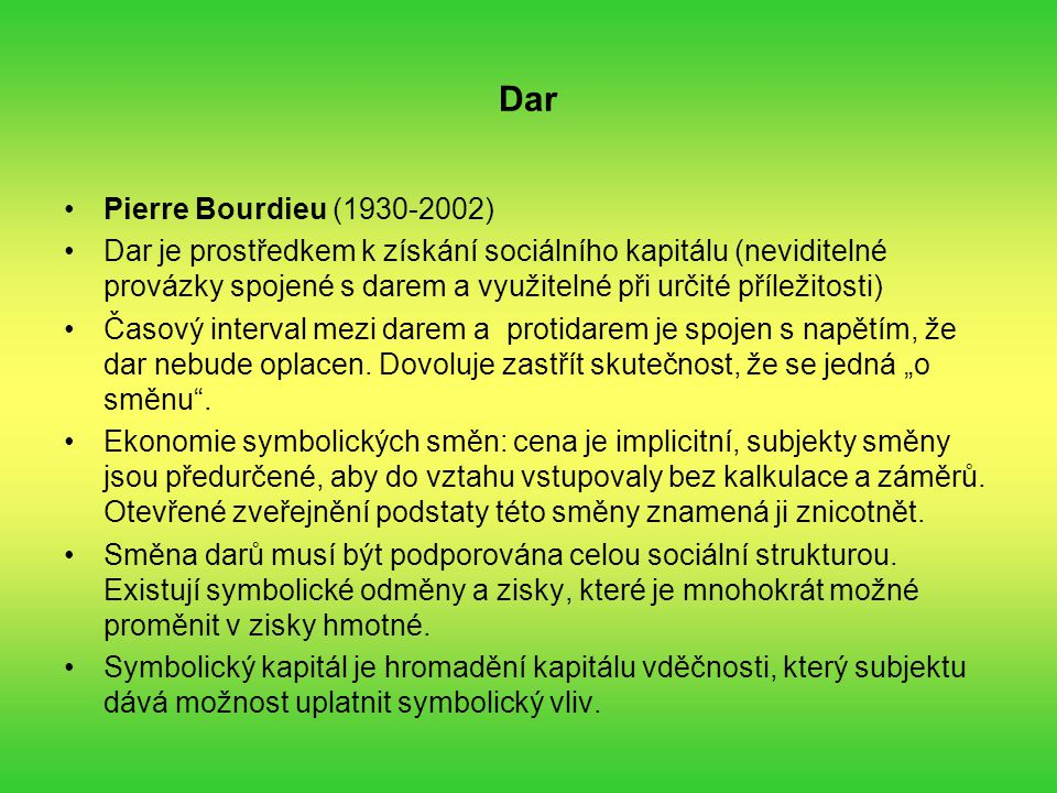 Dar Pierre Bourdieu (1930-2002)