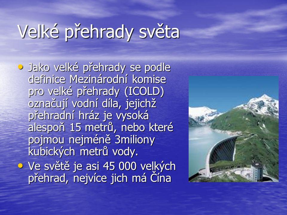 Velké přehrady světa