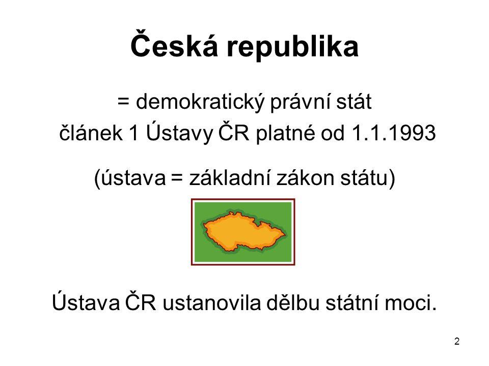 Česká republika = demokratický právní stát