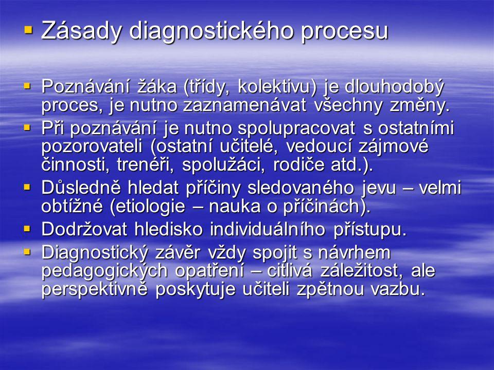 Zásady diagnostického procesu