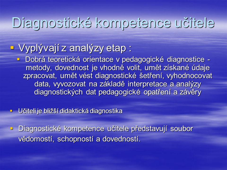 Diagnostické kompetence učitele