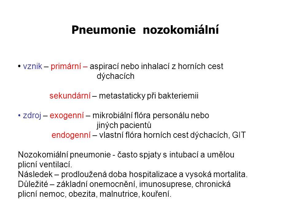 Pneumonie nozokomiální