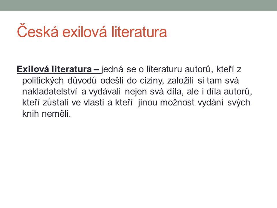 Česká exilová literatura