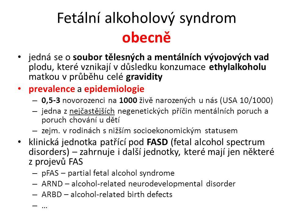 Fetální alkoholový syndrom obecně