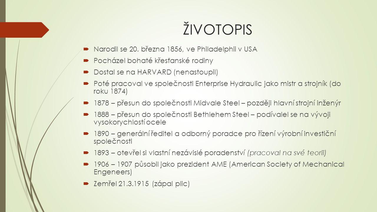 ŽIVOTOPIS Narodil se 20. března 1856, ve Philadelphii v USA