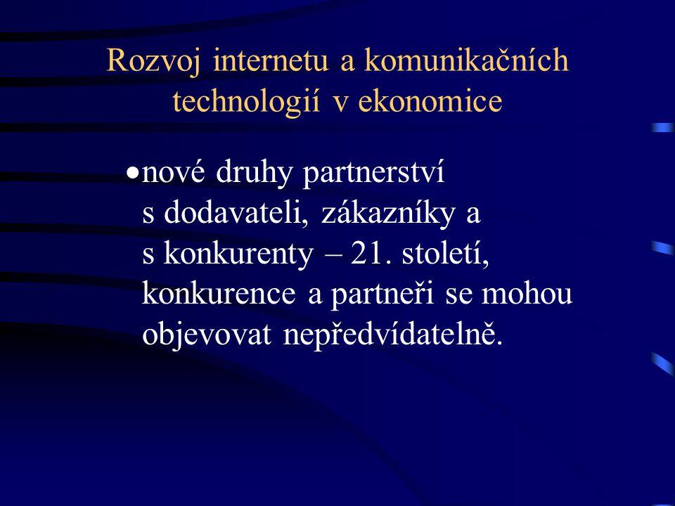 Rozvoj internetu a komunikačních technologií v ekonomice