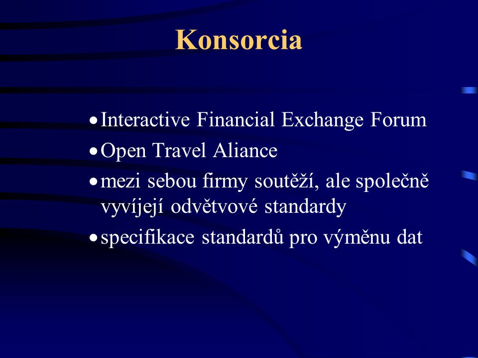 Konsorcia Interactive Financial Exchange Forum Open Travel Aliance