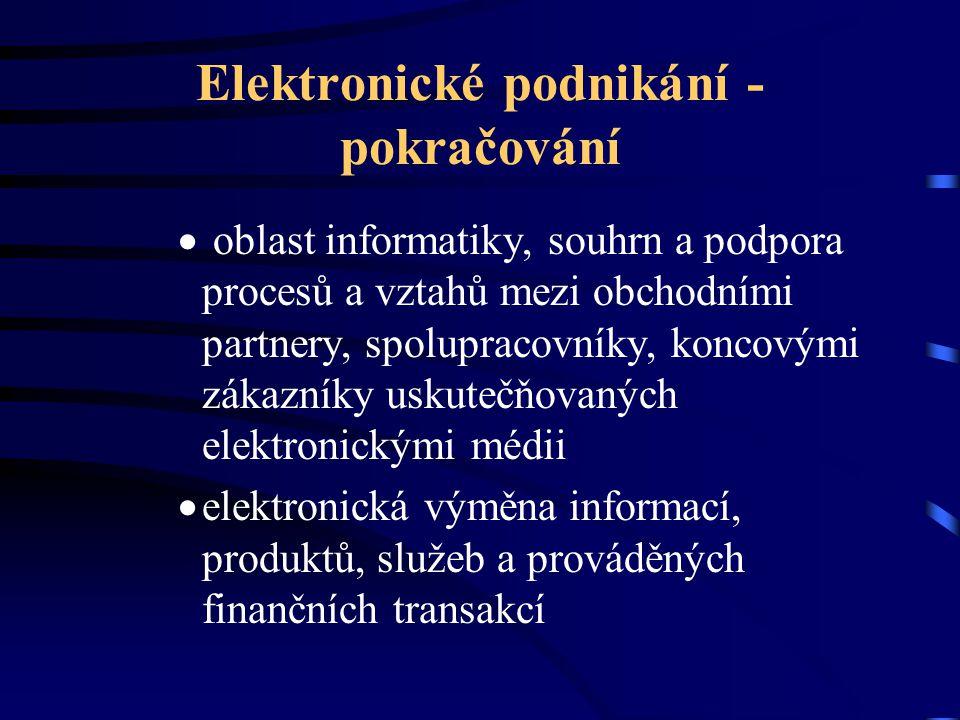 Elektronické podnikání - pokračování