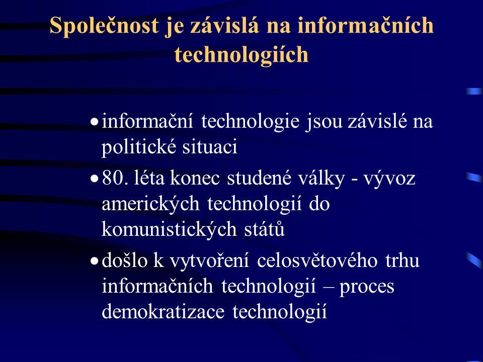 Společnost je závislá na informačních technologiích