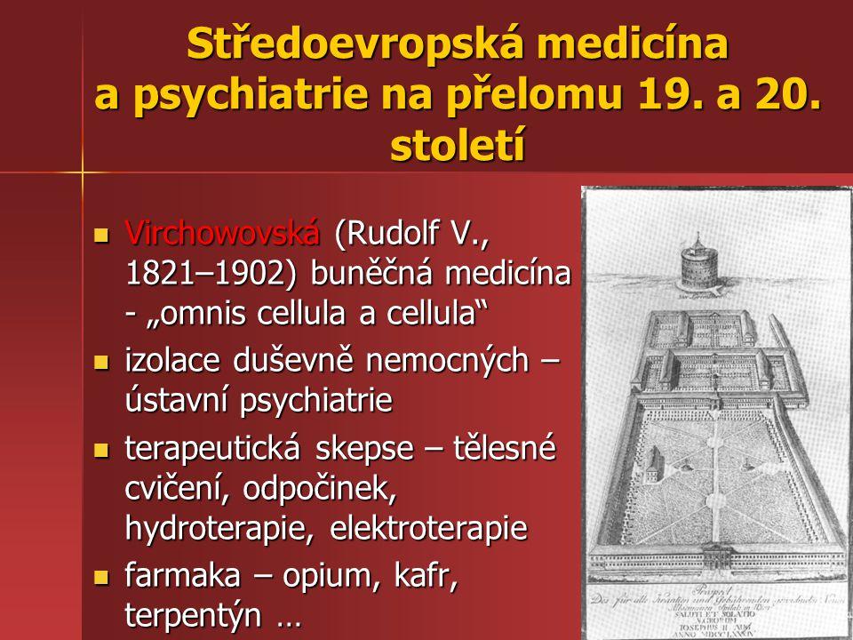 Středoevropská medicína a psychiatrie na přelomu 19. a 20. století