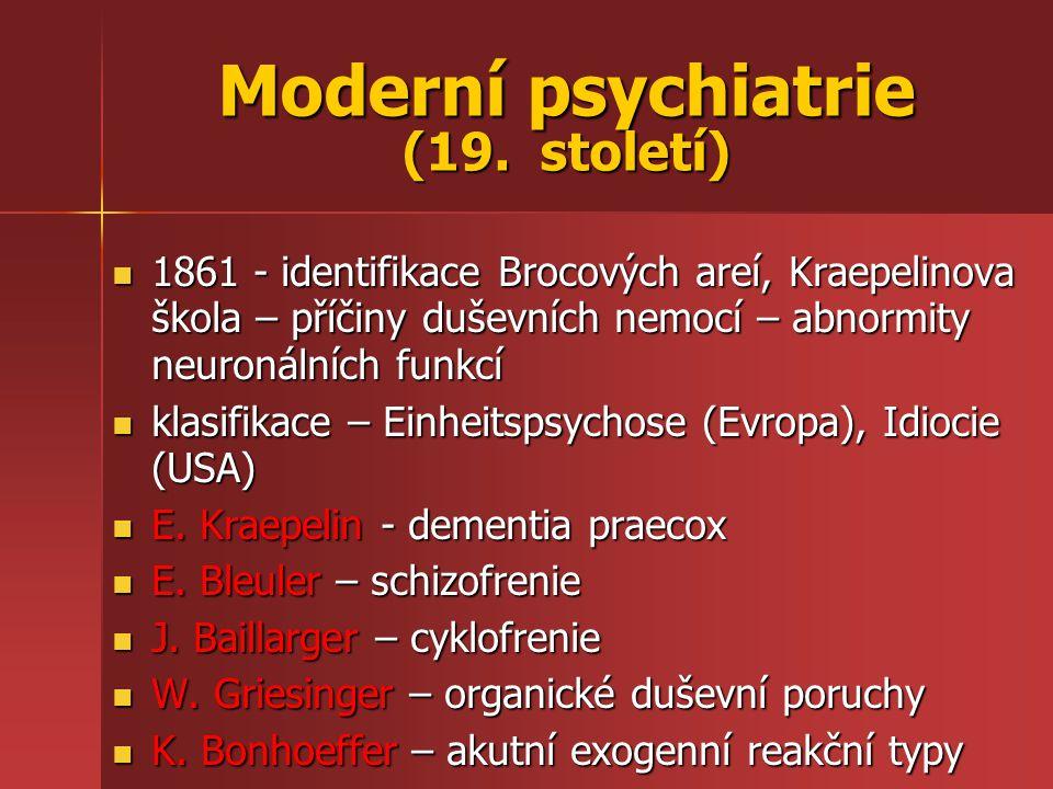 Moderní psychiatrie (19. století)