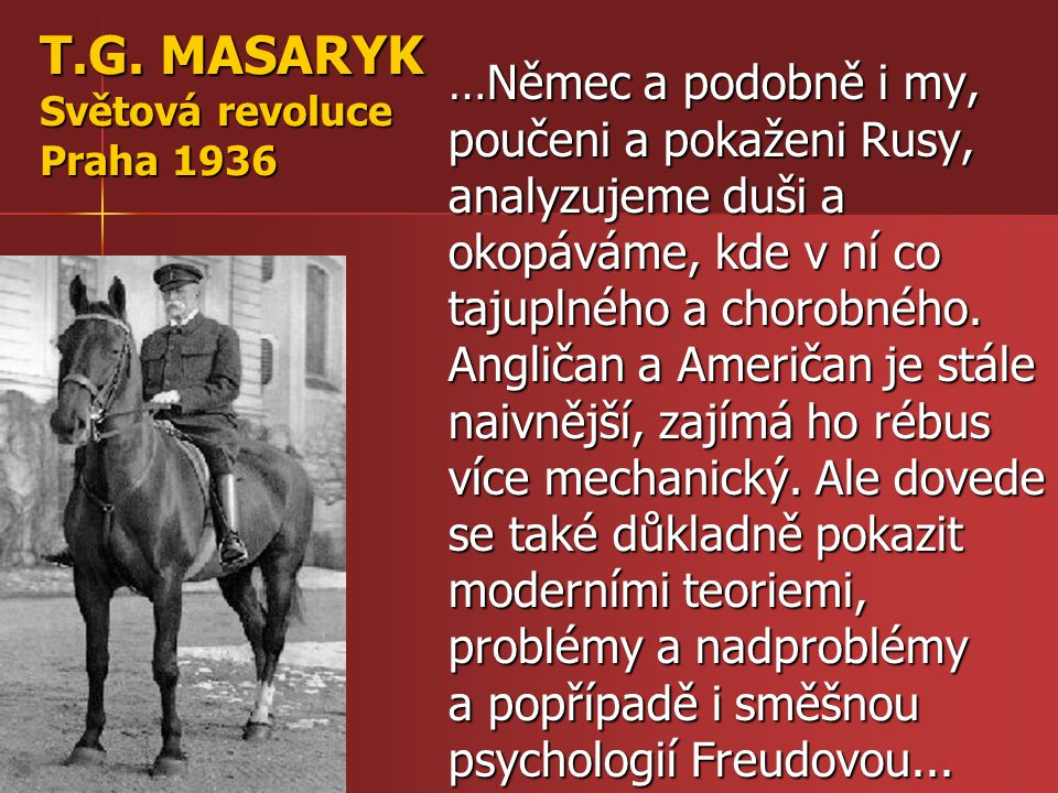 T.G. MASARYK Světová revoluce Praha 1936