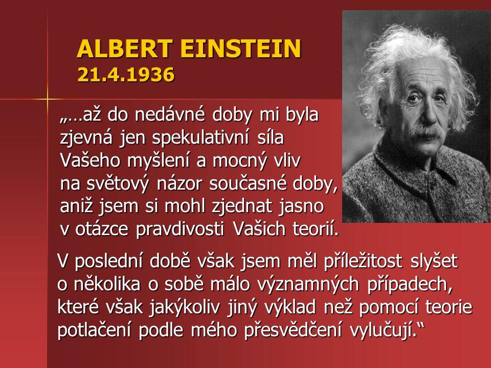 ALBERT EINSTEIN 21.4.1936