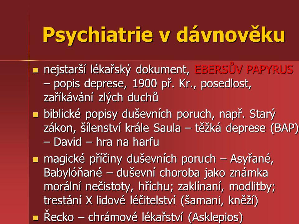 Psychiatrie v dávnověku