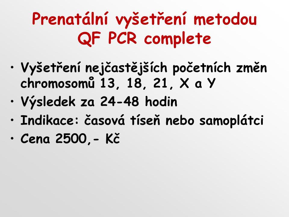 Prenatální vyšetření metodou QF PCR complete