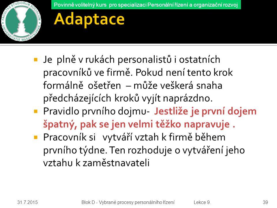 Adaptace