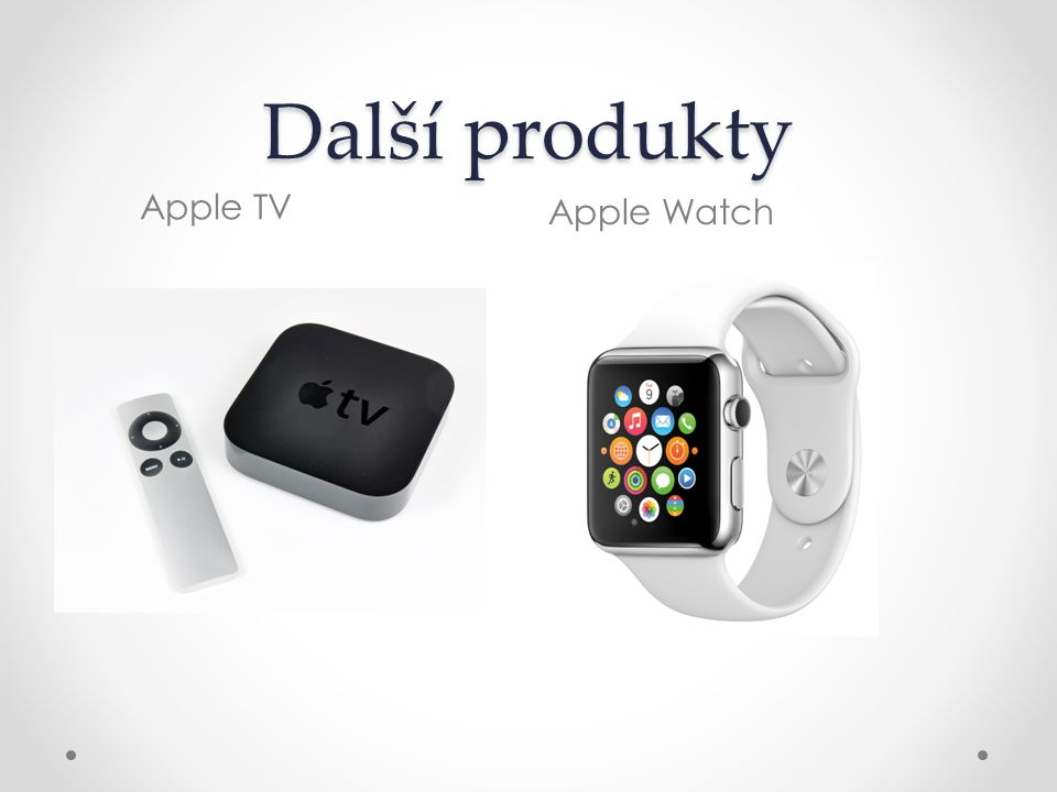 Další produkty Apple TV Apple Watch