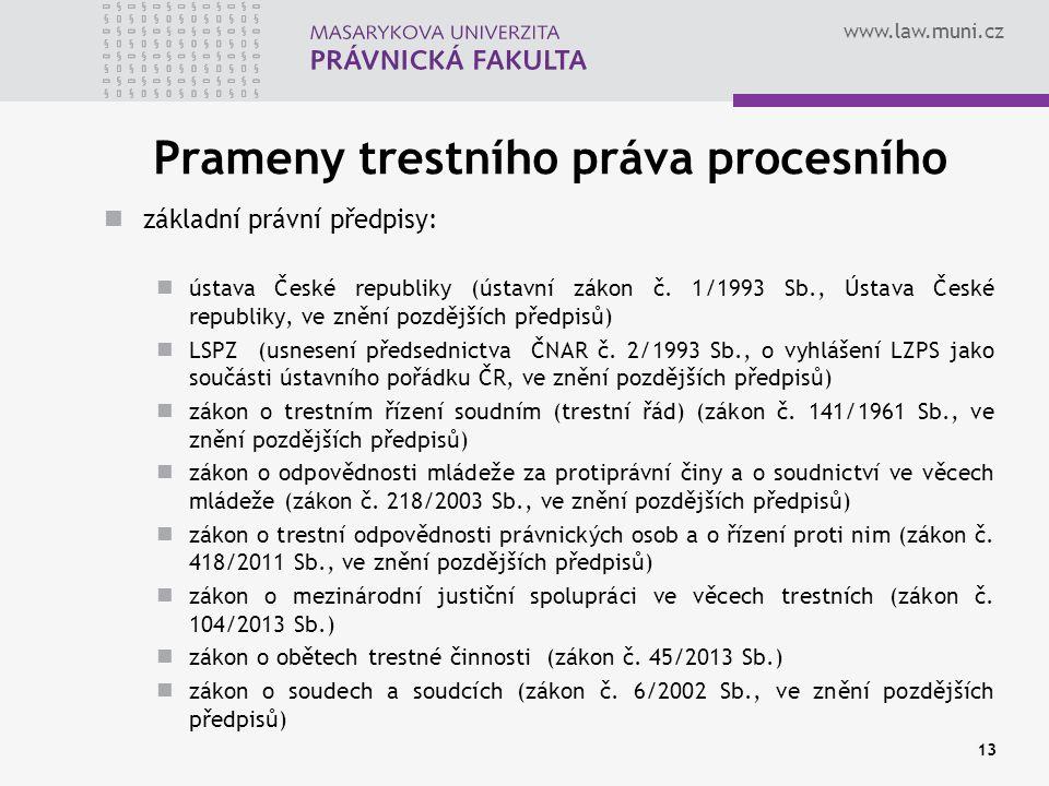 Prameny trestního práva procesního