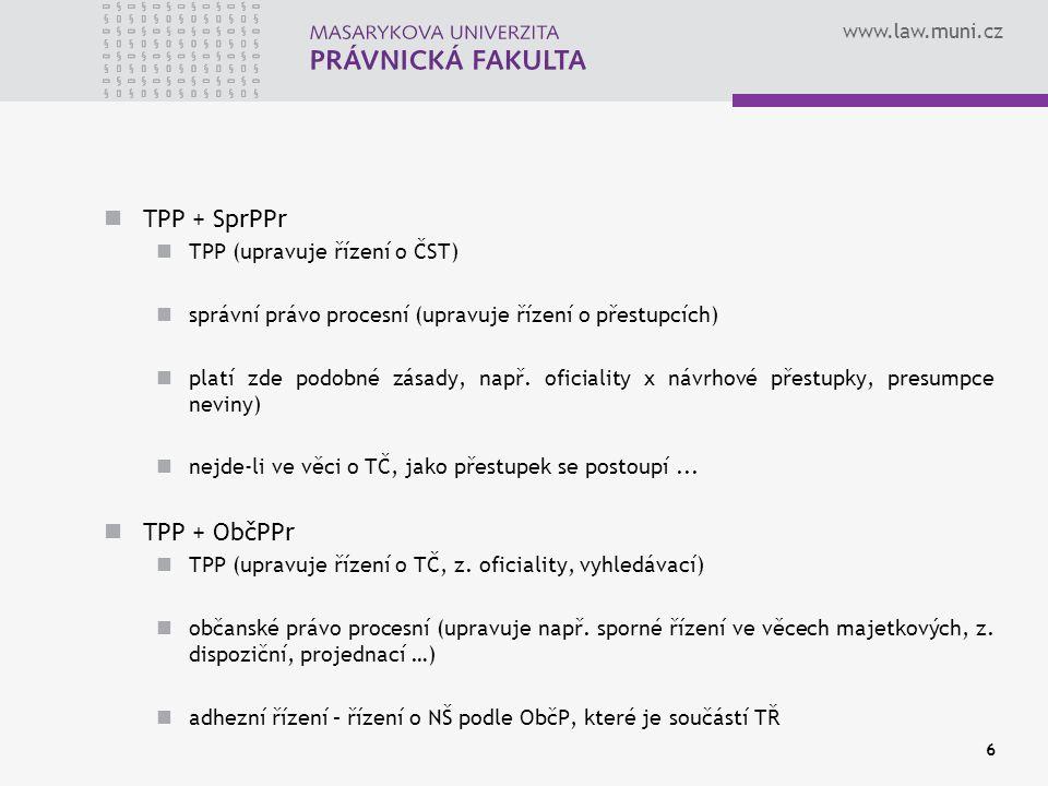 TPP + SprPPr TPP + ObčPPr TPP (upravuje řízení o ČST)