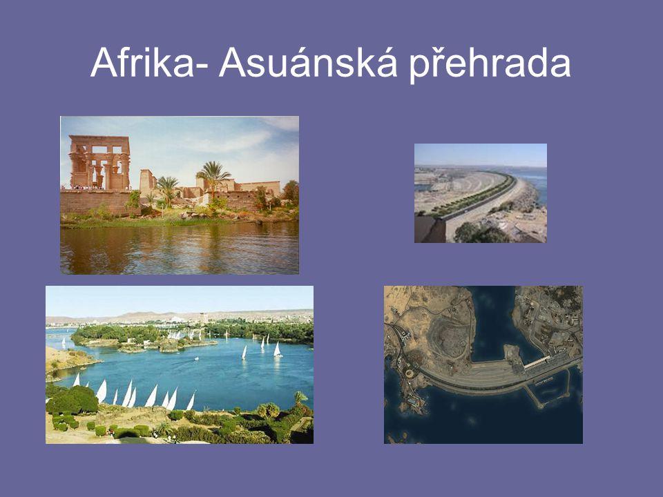 Afrika- Asuánská přehrada