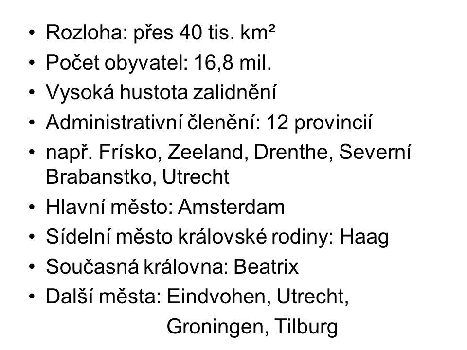 Rozloha: přes 40 tis. km² Počet obyvatel: 16,8 mil. Vysoká hustota zalidnění. Administrativní členění: 12 provincií.