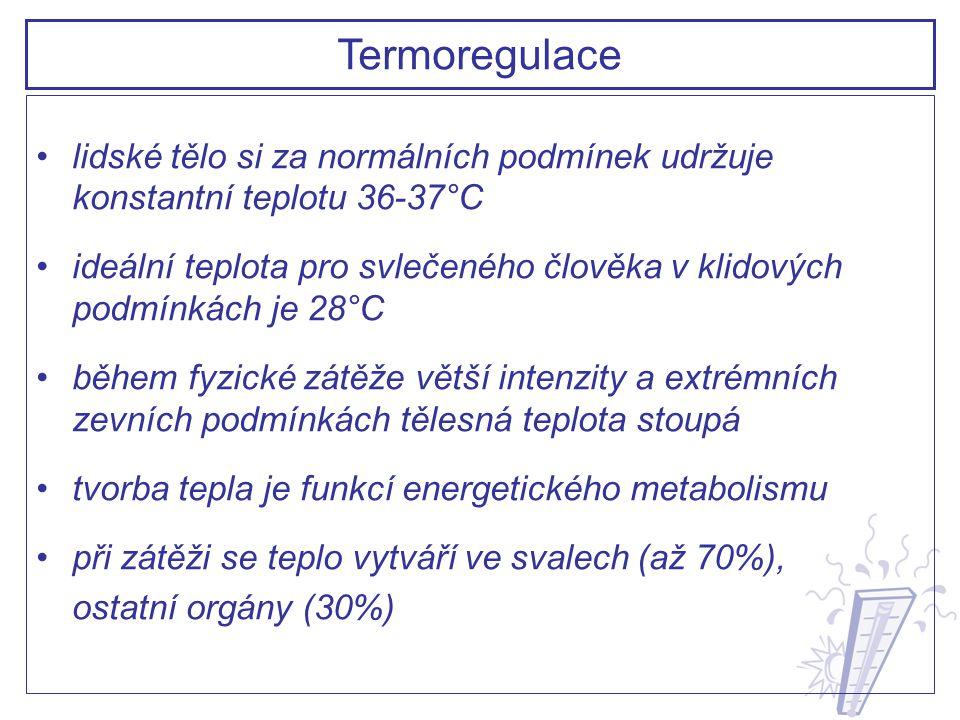 Termoregulace lidské tělo si za normálních podmínek udržuje konstantní teplotu 36-37°C.