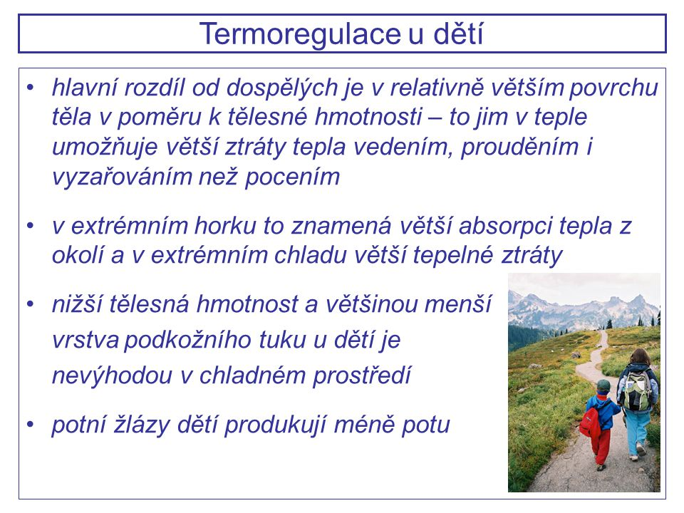 Termoregulace u dětí