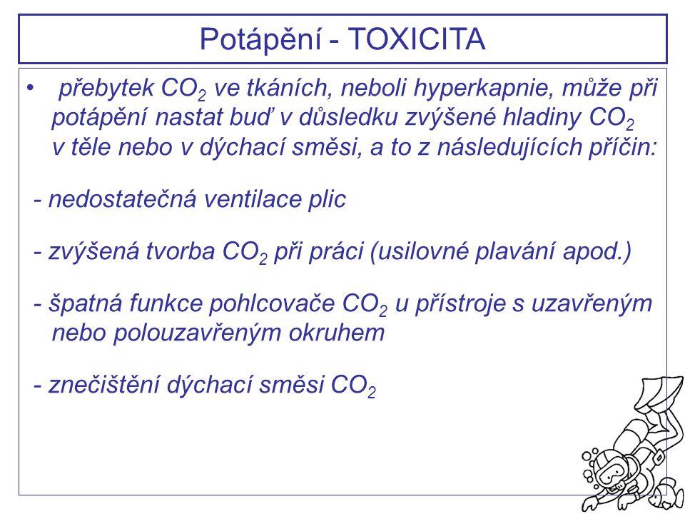 Potápění - TOXICITA