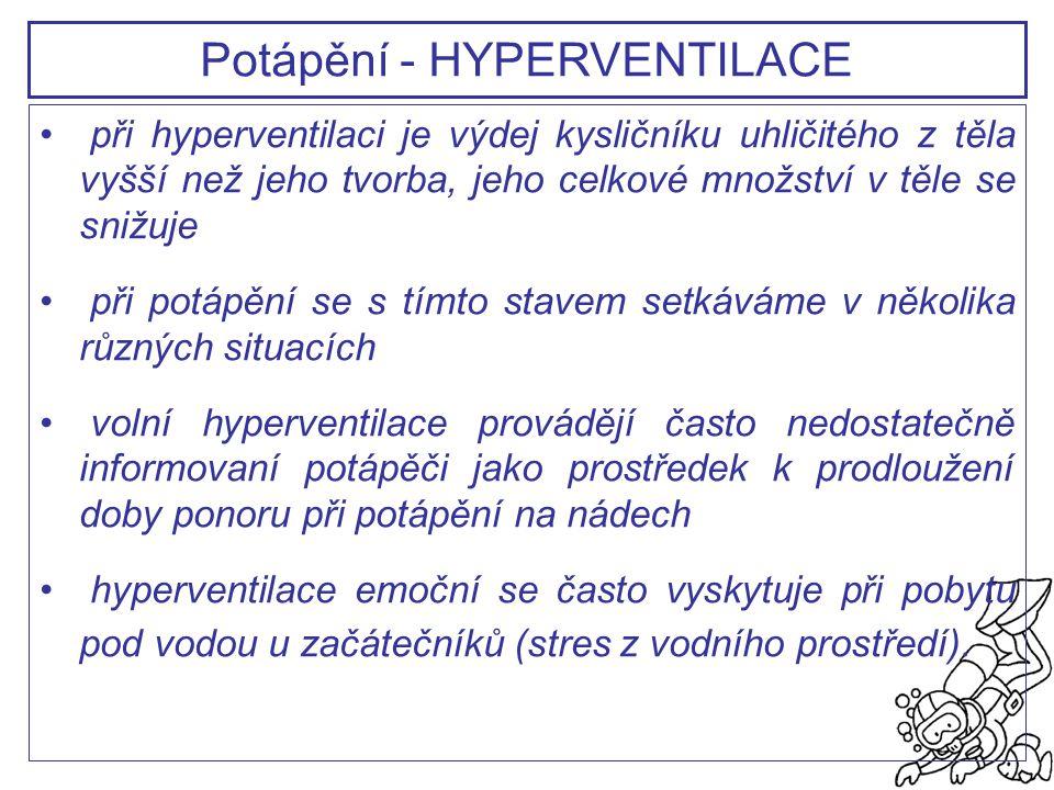 Potápění - HYPERVENTILACE