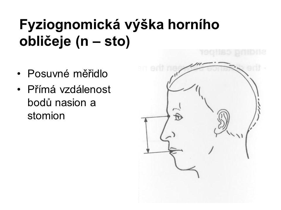 Fyziognomická výška horního obličeje (n – sto)