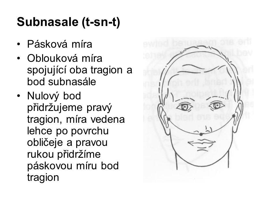 Subnasale (t-sn-t) Pásková míra