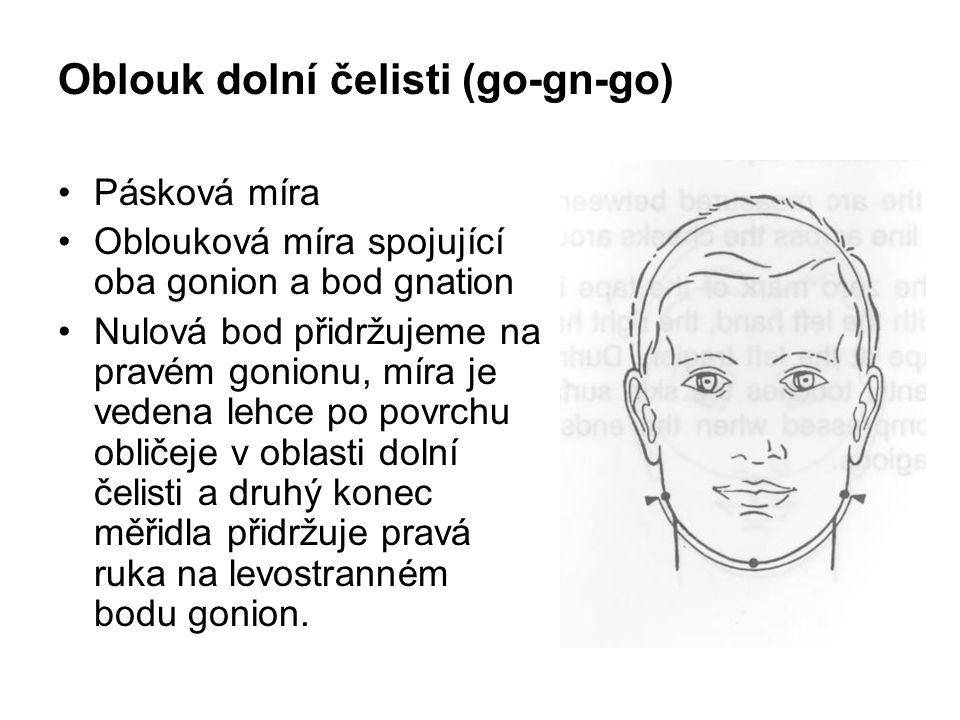 Oblouk dolní čelisti (go-gn-go)