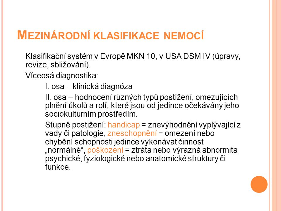 Mezinárodní klasifikace nemocí