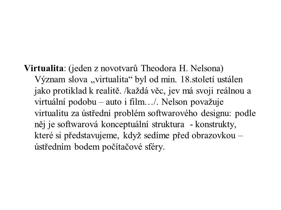 Virtualita: (jeden z novotvarů Theodora H