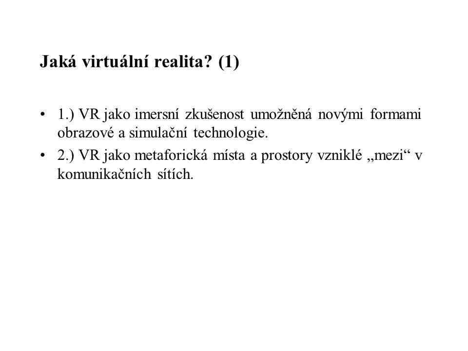 Jaká virtuální realita (1)