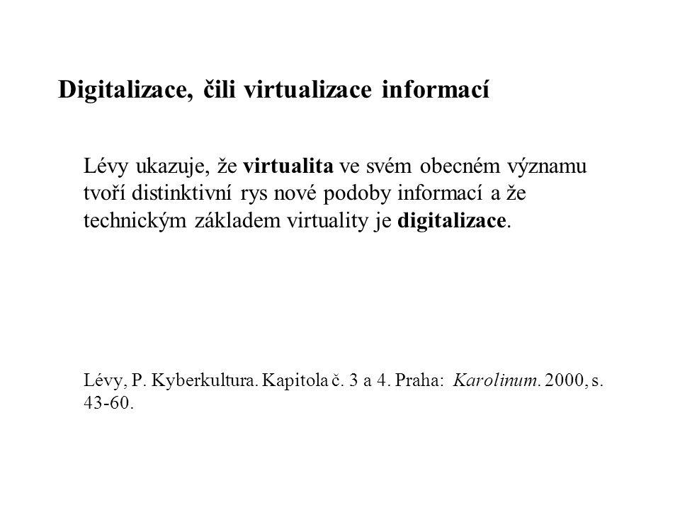 Digitalizace, čili virtualizace informací
