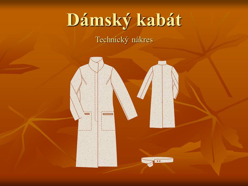 Dámský kabát Technický nákres