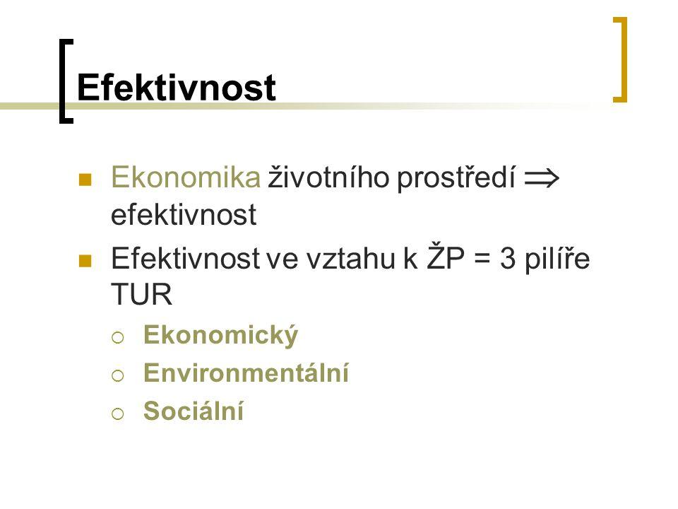 Efektivnost Ekonomika životního prostředí  efektivnost