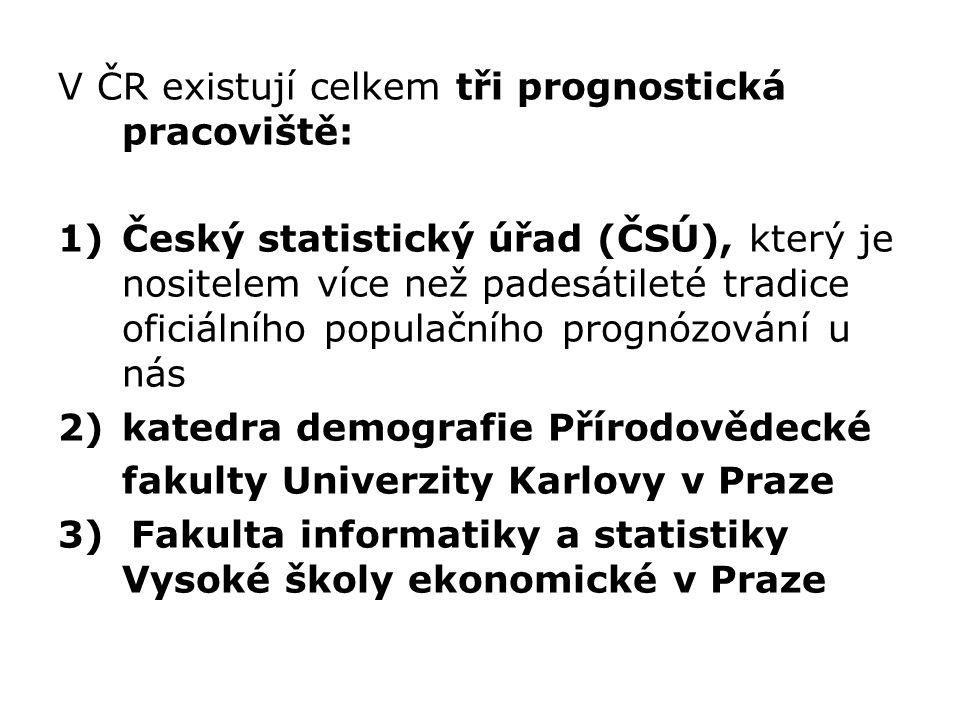 V ČR existují celkem tři prognostická pracoviště:
