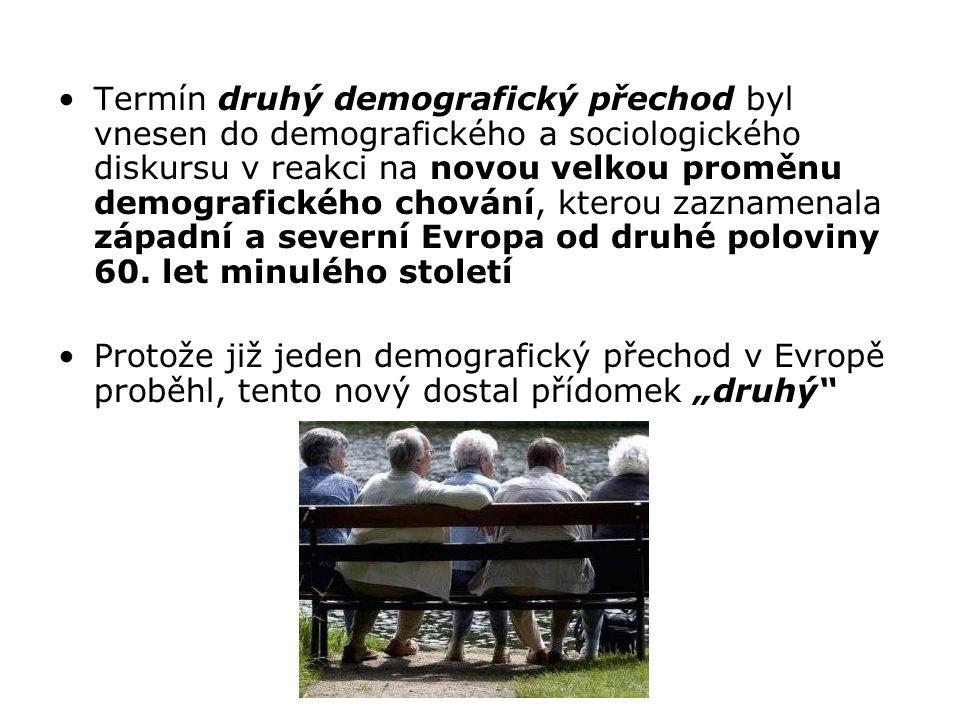 Termín druhý demografický přechod byl vnesen do demografického a sociologického diskursu v reakci na novou velkou proměnu demografického chování, kterou zaznamenala západní a severní Evropa od druhé poloviny 60. let minulého století