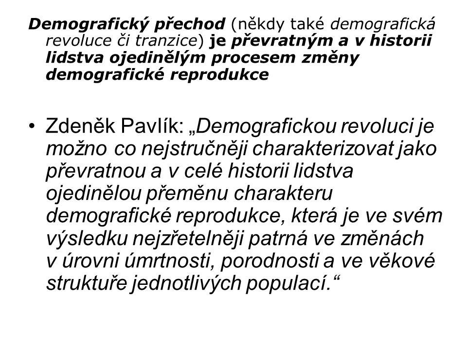 Demografický přechod (někdy také demografická revoluce či tranzice) je převratným a v historii lidstva ojedinělým procesem změny demografické reprodukce