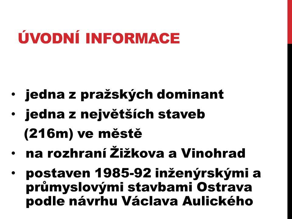 Úvodní informace jedna z pražských dominant jedna z největších staveb