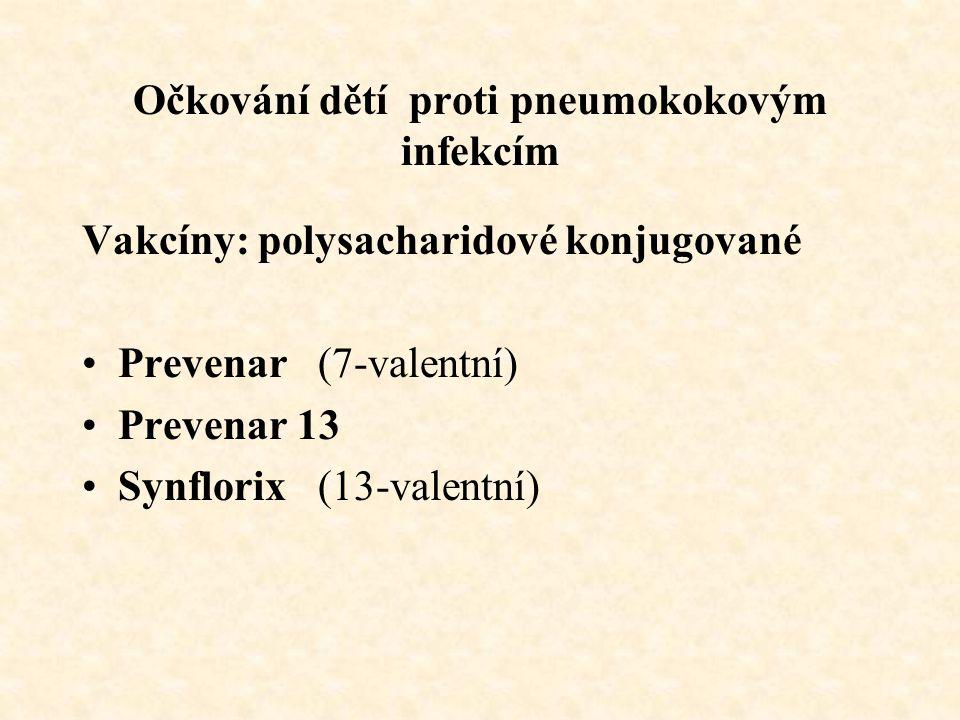 Očkování dětí proti pneumokokovým infekcím