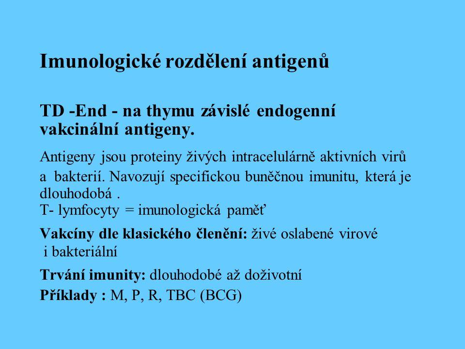 Imunologické rozdělení antigenů