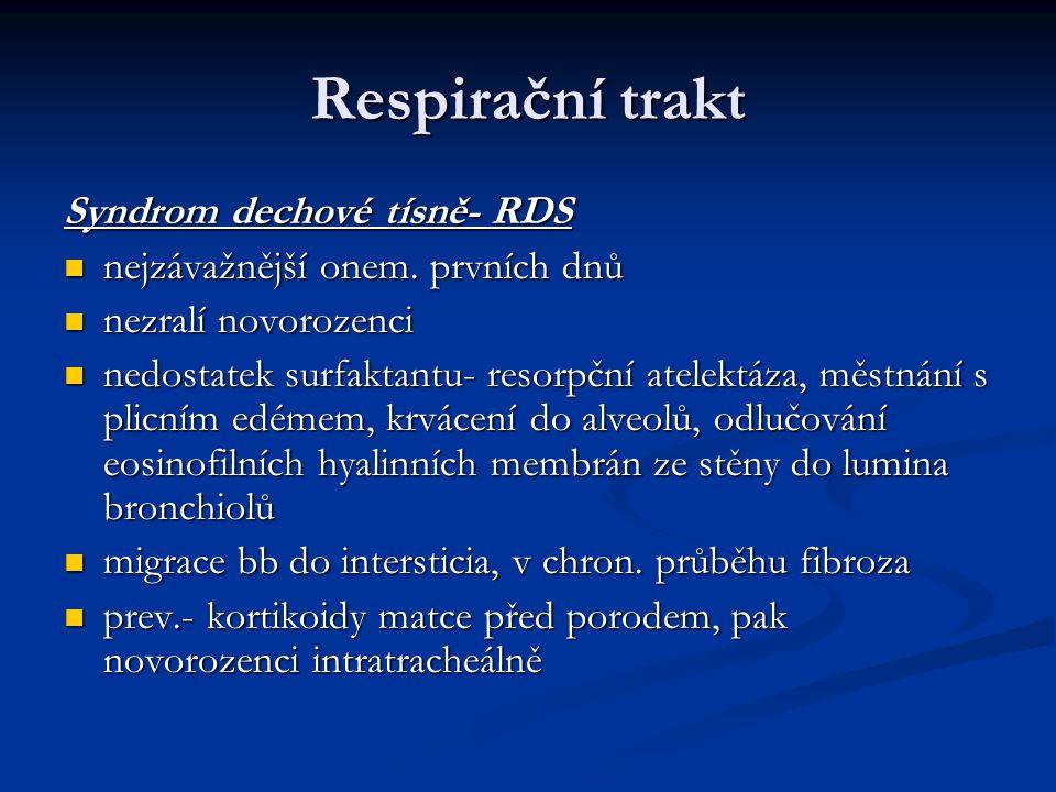 Respirační trakt Syndrom dechové tísně- RDS