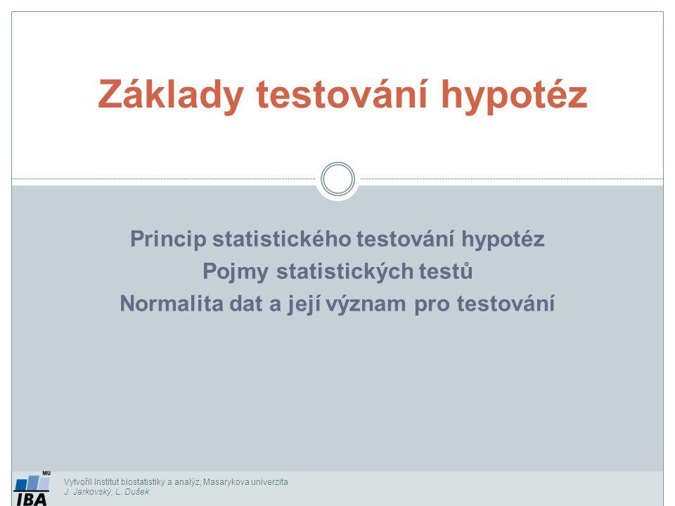 Základy testování hypotéz